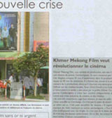 Article in the french language newspaper Cambodge Soir